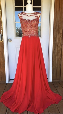 Queenly size 12 Jovani Red A-line evening gown/formal dress