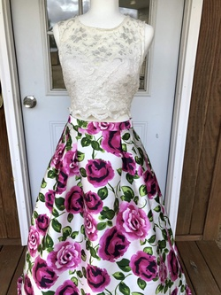 Queenly size 12 B. Darlin Pink A-line evening gown/formal dress