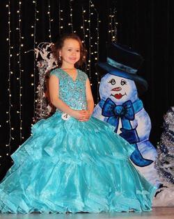 Rachel Allan Blue Size 00 Cap Sleeve Girls Size Ball gown on Queenly