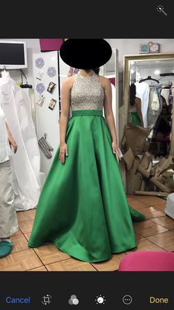 Queenly size 4 Jovani Green Ball gown evening gown/formal dress