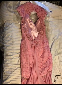 Mac Duggal Pink Size 6 Pageant Mermaid Dress on Queenly