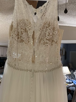 Queenly size 18  Nude A-line evening gown/formal dress