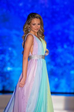 Ashley Lauren  Multicolor Size 0 Pageant Custom A-line Dress on Queenly