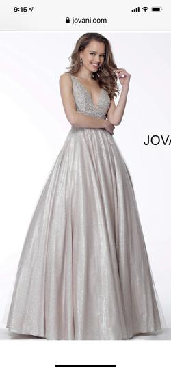Queenly size 10 Jovani Gold Ball gown evening gown/formal dress