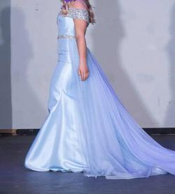 Dynasty London Light Blue Size 8 Pageant Train Dress on Queenly