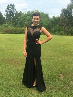 Queenly size 4  Black Side slit evening gown/formal dress