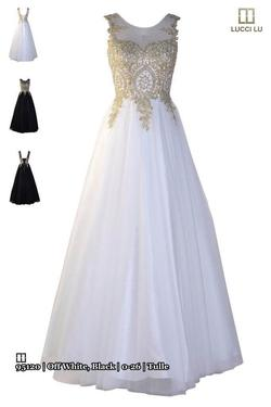 Queenly size 0 Abby Paris White Ball gown evening gown/formal dress