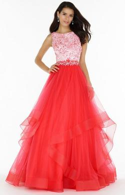 Queenly size 2 Alyce Paris Pink Ball gown evening gown/formal dress