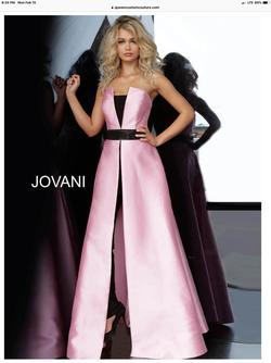 Style 1799 Jovani Pink Size 6 Black Light Blue Blue Jumpsuit Dress on Queenly