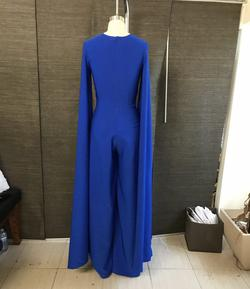 Chaluisant Blue Size 4 Cape Pageant Jumpsuit Dress on Queenly