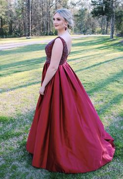 Vienna Red Size 8 Pageant Backless Tall Height Ball gown on Queenly
