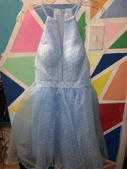 Queenly size 2 Sherri Hill Blue Cocktail evening gown/formal dress