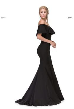 Queenly size 12  Black Mermaid evening gown/formal dress