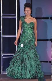 Queenly size 6 Mac Duggal  Green Mermaid evening gown/formal dress