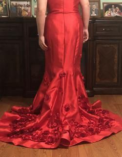 Sherri Hill Red Size 12 Plus Size Mermaid Dress on Queenly