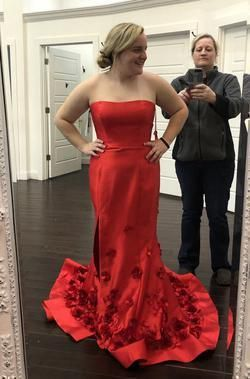 Queenly size 12 Sherri Hill Red Mermaid evening gown/formal dress