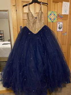 Queenly size 18 Mori Lee Multicolor Ball gown evening gown/formal dress
