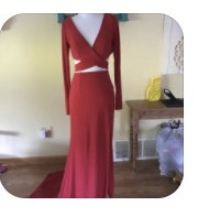 Queenly size 0 Sherri hill Red Straight evening gown/formal dress