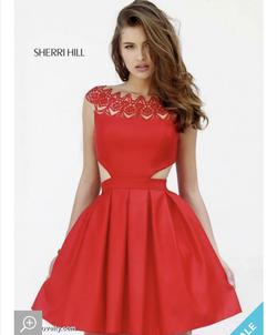 Queenly size 4  Red Cocktail evening gown/formal dress