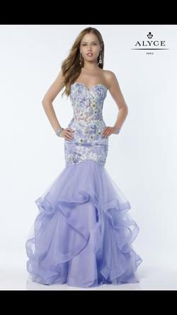Queenly size 10 Alyce Paris Purple Mermaid evening gown/formal dress