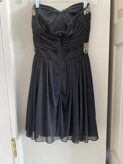 My Michelle Black Size 2 Short Height Strapless Cocktail A-line Dress on Queenly