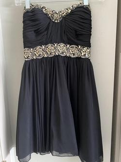 Queenly size 2 My Michelle Black A-line evening gown/formal dress
