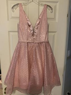 Clarisse Pink Size 8 Homecoming Interview Cocktail Dress on Queenly