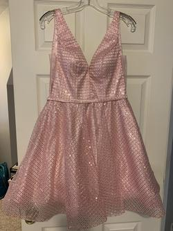 Queenly size 8 Clarisse Pink Cocktail evening gown/formal dress