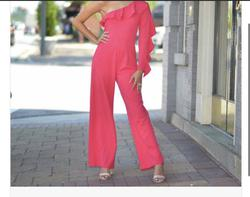 Queenly size 2  Pink Jumpsuit evening gown/formal dress