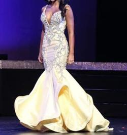 Queenly size 4  Yellow Mermaid evening gown/formal dress