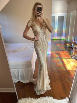 Queenly size 2  Nude Mermaid evening gown/formal dress