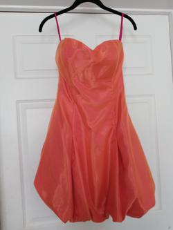 Queenly size 4  Orange Cocktail evening gown/formal dress