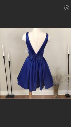 Rachel Allan Royal Blue Size 4 Flare Cocktail Dress on Queenly