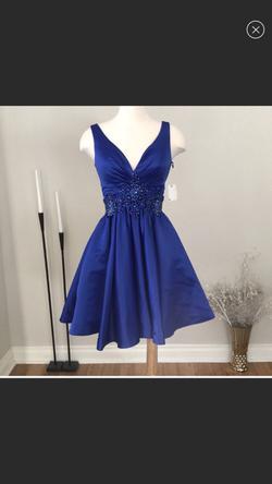 Queenly size 4 Rachel Allan Blue Cocktail evening gown/formal dress