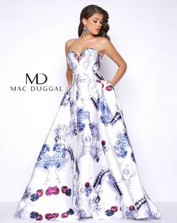 Queenly size 2 Mac Duggal Multicolor Ball gown evening gown/formal dress