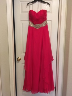 Queenly size 6 Jovani Pink A-line evening gown/formal dress