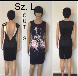 Queenly size 4  Black A-line evening gown/formal dress