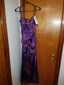 Style 10257 Morgan and Co. Purple Size 2 Straight Dress on Queenly