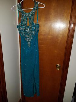Style 80254 Alyce Blue Size 10 Pageant Sequin A-line Dress on Queenly