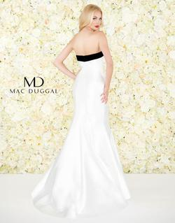 Style 12182 Mac Duggal White Size 2 Suede Mermaid Dress on Queenly