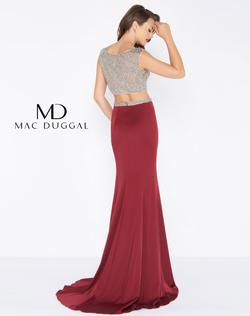 Style 20063 Mac Duggal Red Size 4 Two Piece Pageant Straight Dress on Queenly