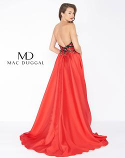 Style 2037 Mac Duggal Red Size 6 Floral Pageant Ball gown on Queenly