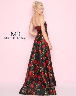 Style 25263 Mac Duggal Black Size 6 Flare Floral Ball gown on Queenly