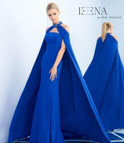 Style 25647 Mac Duggal Royal Blue Size 2 Pageant Halter Mermaid Dress on Queenly