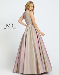 Style 25957 Mac Duggal Pink Size 8 High Neck Pageant Halter Ball gown on Queenly
