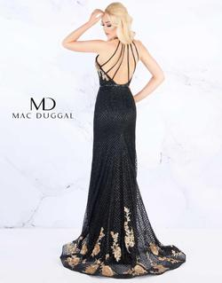 Style 30578 Mac Duggal Black Size 4 Rose Gold Silver Halter Pageant Mermaid Dress on Queenly