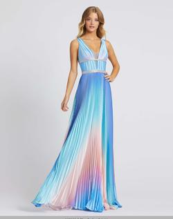 Queenly size 8 Mac Duggal Multicolor A-line evening gown/formal dress