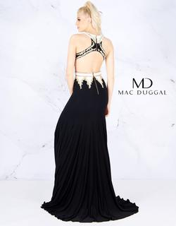 Style 40626 Mac Duggal Black Size 4 High Neck Prom Cut Out Side slit Dress on Queenly