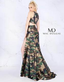 Style 40814 Mac Duggal Green Size 12 Two Piece Tall Height Side slit Dress on Queenly