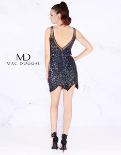 Style 4085 Mac Duggal Black Size 4 Sequin Backless Cocktail Dress on Queenly